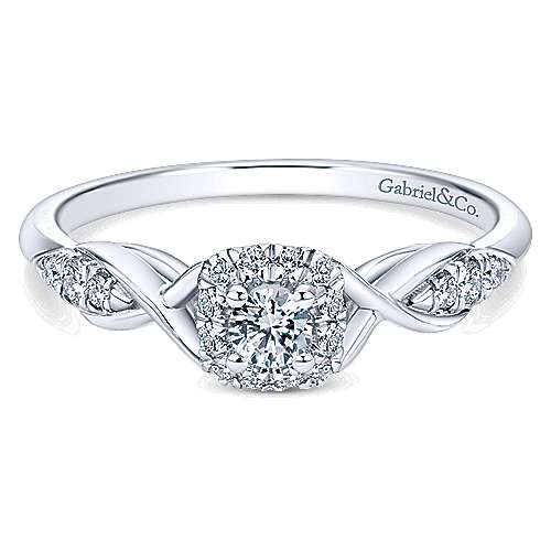 Gabriel & Co 14K White Gold Round Diamond Halo Engagement Ring ER912151R0W44JJ.CSD4