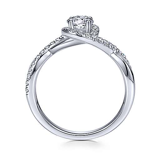 Gabriel & Co 14K White Gold Round Diamond Halo Engagement Ring ER98733W44JJ.CSD4