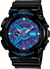 Casio Gshock GA110HC-1A Mens Black and Blue Analog Digital Watch