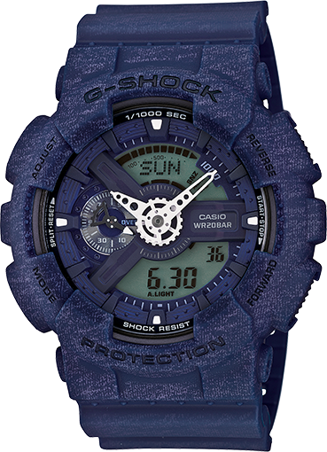 Casio Gshock GA110HT-2A Mens Blue Analog Digital Watch