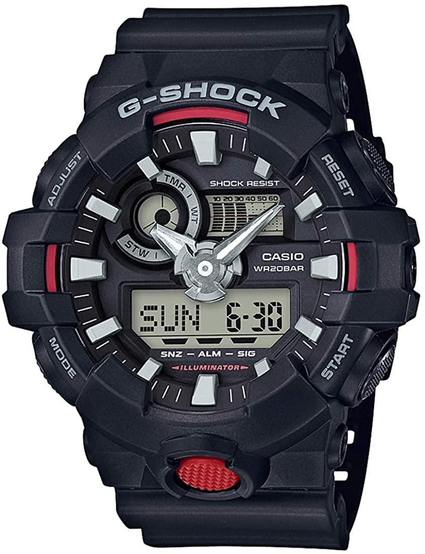 Casio G-Shock GA700-1A Analog Digital Men's Black Resin Watch