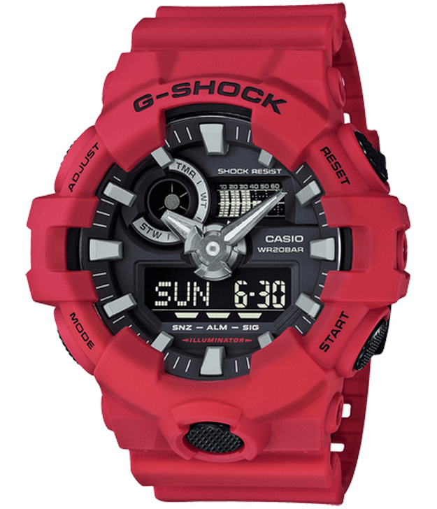 Casio G-Shock GA700-4A Analog Digital Men's Red Resin Watch