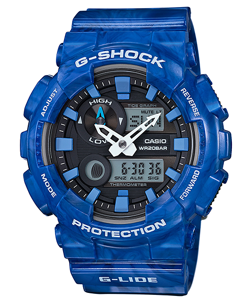 Casio Gshock GAX100MA-2A Limited Edition Blue Ani-Digital Watch