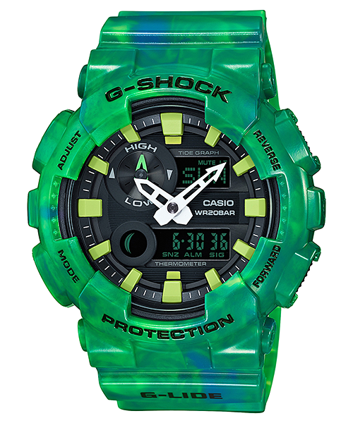 Casio Gshock GAX100MB-3A Limited Edition Green Ani-Digital Watch