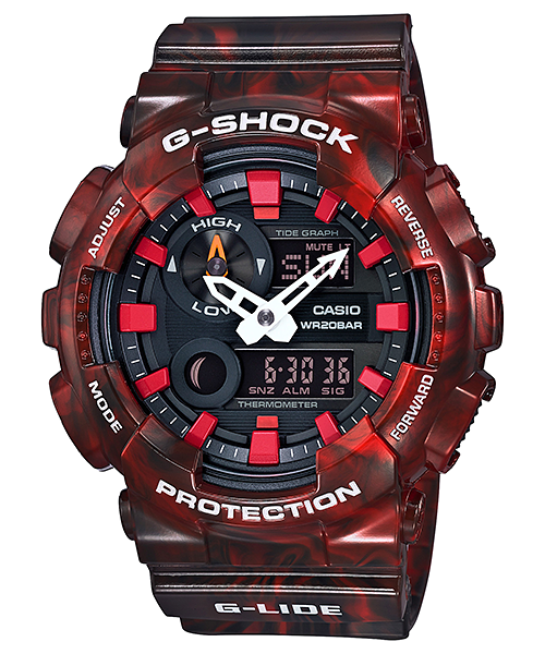 Casio Gshock GAX100MB-4A Limited Edition Red Ani-Digtial Watch