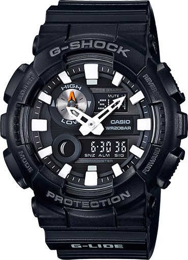 Casio Gshock GAX100B-1A G-Lide Black Resin Watch