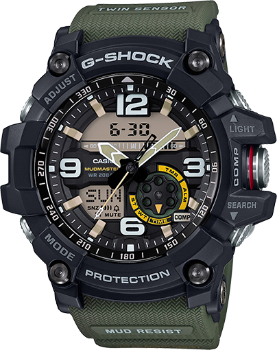 Casio Gshock GG1000-1A3 Mudmaster Analog Digital Watch