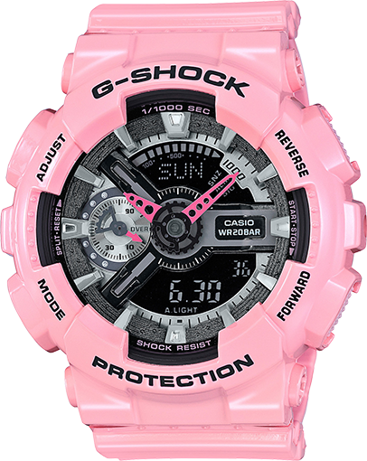 Casio Gshock GMAS110MP-4A2 Ladies Pink Analog Digital Watch