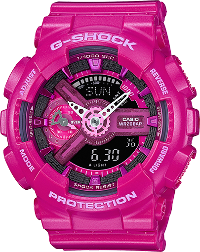 Casio Gshock GMAS110MP-4A3 Pink Analog Digital Watch