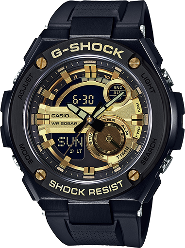 Casio Gshock GST210B-1A9 G-Steel 2nd Gen LED World Time Watch