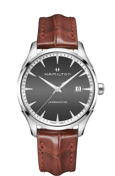 Hamilton H32451581 Jazzmaster Quartz Brown Leather Watch
