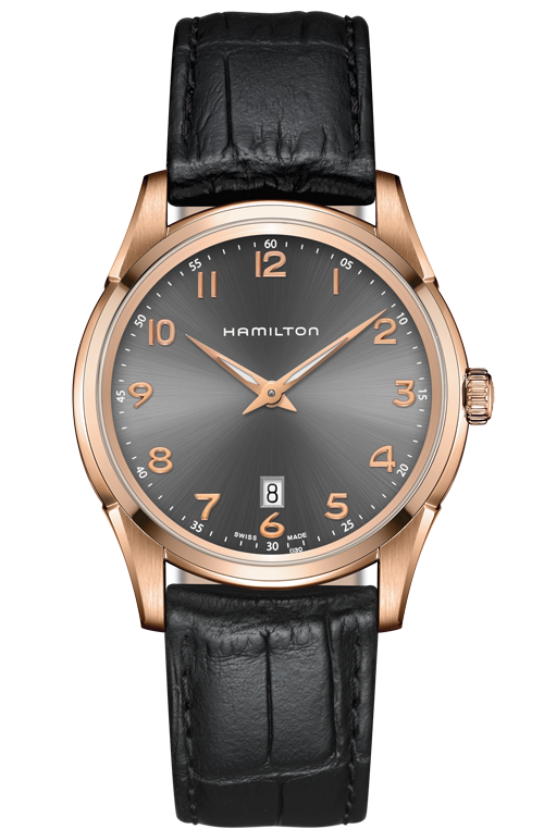 Hamilton Jazzmaster H38541783 Quartz Leather Watch