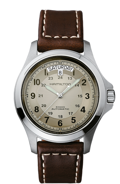 Hamilton H64455523 Khaki King Automatic Day/Date Leather Watch
