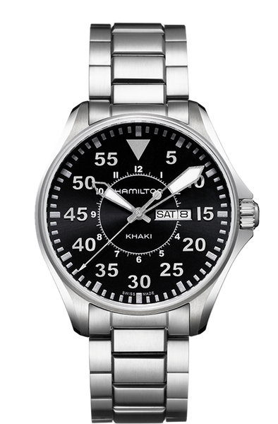 Hamilton H64611135 Khaki Pilot Stainless Steel Quartz Watch