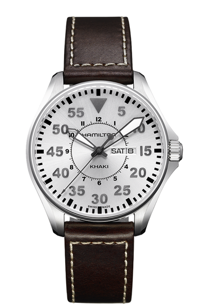 Hamilton H64611555 Khaki Pilot Leather Quartz Watch