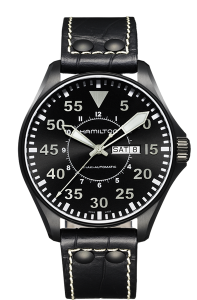 Hamilton Khaki Aviation Pilot H64785835 Automatic Leather Watch