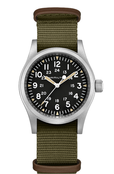 Hamilton H69439931 Khaki Field Mechanical Green Nylon 38mm Watch