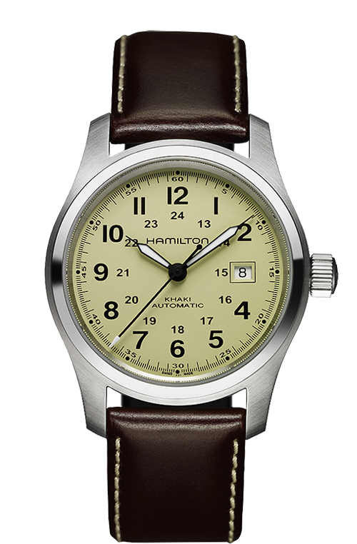Hamilton Khaki Field H70555523 Automatic Leather Watch