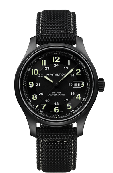 abfd598efd1 Hamilton Khaki Field H70575733 Automatic Black Watch ...