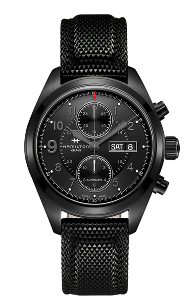 Hamilton H71626735 Khaki Field Automatic Chronograph Black Watch