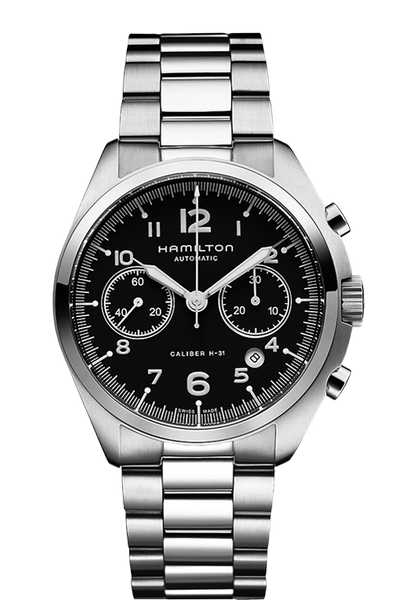 Hamilton H76416135 Pilot Pioneer Stainless Chrono Automatic Watch
