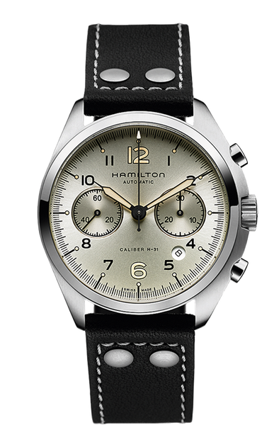 Hamilton H76416755 Pilot Pioneer Leather Chrono Automatic Watch