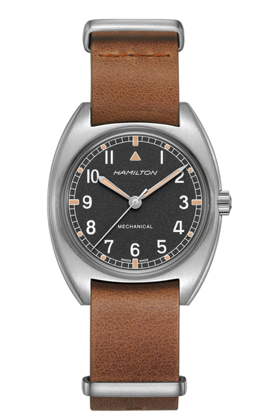 Hamilton H76419531 Khaki Pilot Pioneer Mechanical Leather Watch