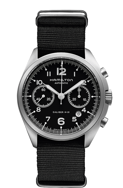 Hamilton H76456435 Pilot Pioneer Nylon Chrono Automatic Watch
