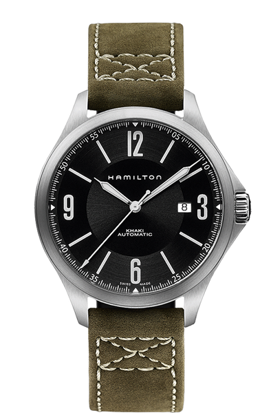 Hamilton H76665835 Khaki Aviation Leather Automatic Watch