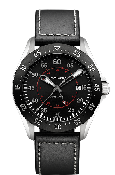 Hamilton H76755735 Khaki Pilot GMT Leather Automatic Watch