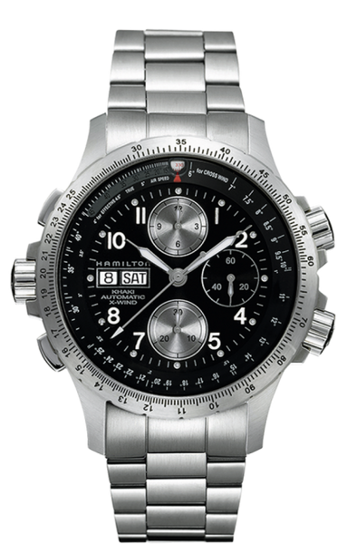 Hamilton Aviation X-Wind H77616133 Stainless Steel Chronograph Day/Date Automatic Watch