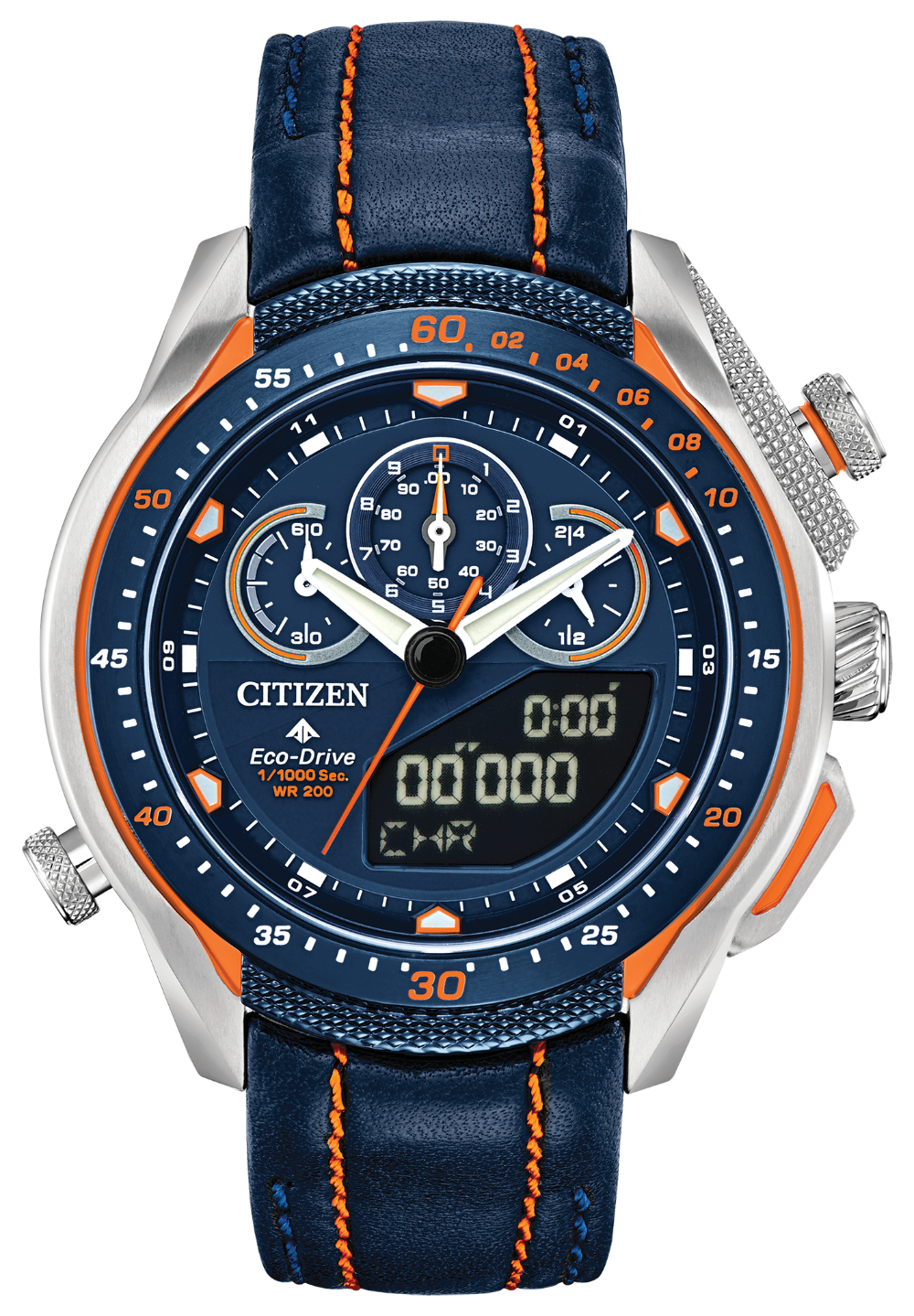 Citizen JW0139-05L Promaster SST Leather Strap Analog Digital Watch