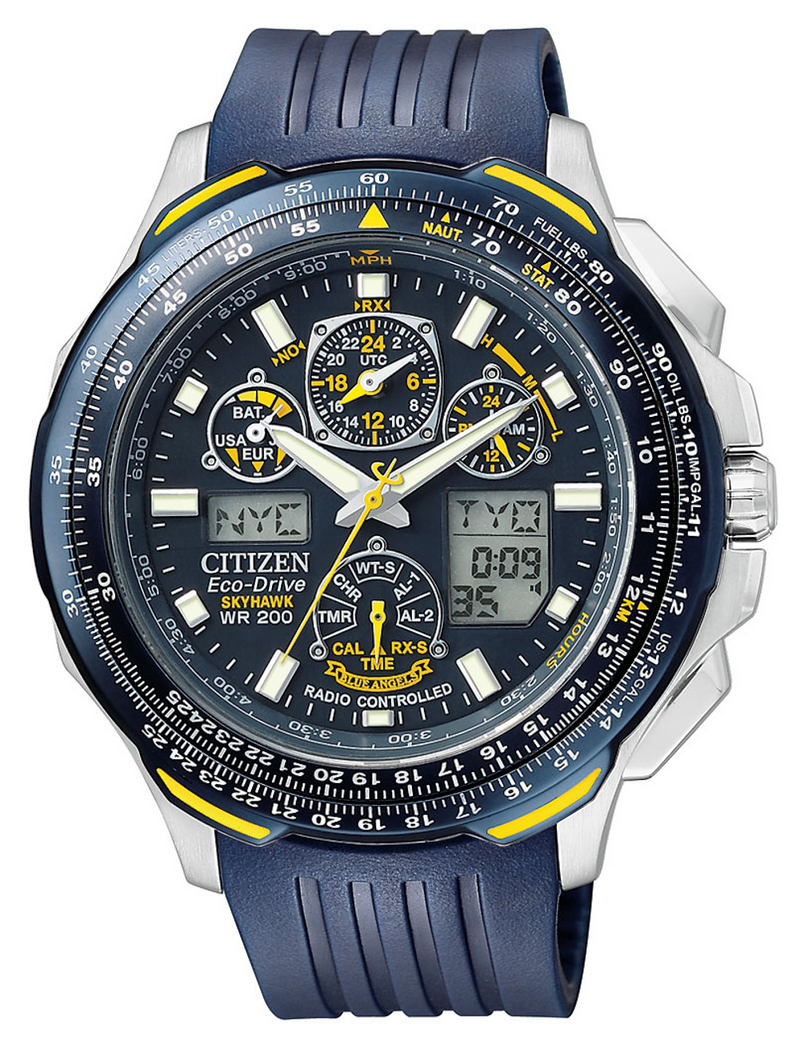 Citizen JY0064-00L Promaster Skyhawk Blue Angels Atomic Time Blue Rubber Strap Watch