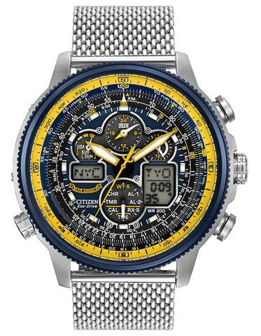 Citizen JY8031-56L Mens Eco-Drive Blue Angels Mesh Band Watch