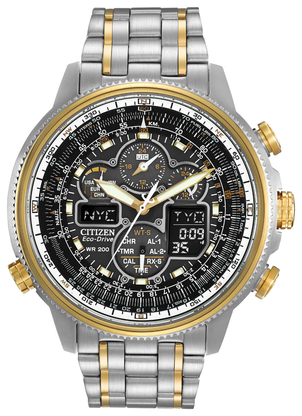 Citizen JY8034-58E Promaster Navihawk Atomic Time Eco-Drive Watch