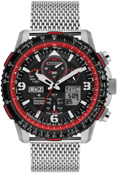 Citizen JY8079-76E Red Arrows LIMITED EDITION Eco-Drive Stainless Steel Mesh AT Chronograpgh Watch
