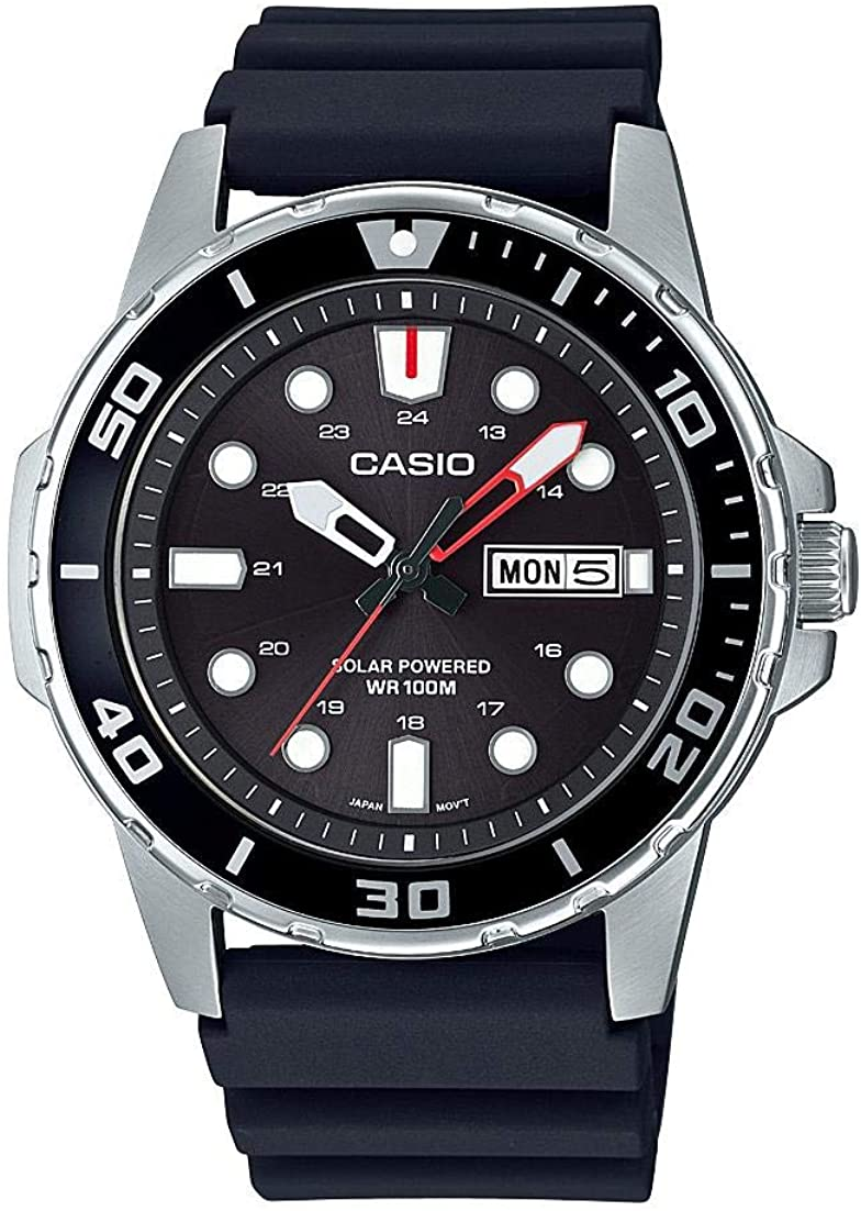 Casio MTPS110-1AV Men's Classic Solar Powered 49mm Case Watch