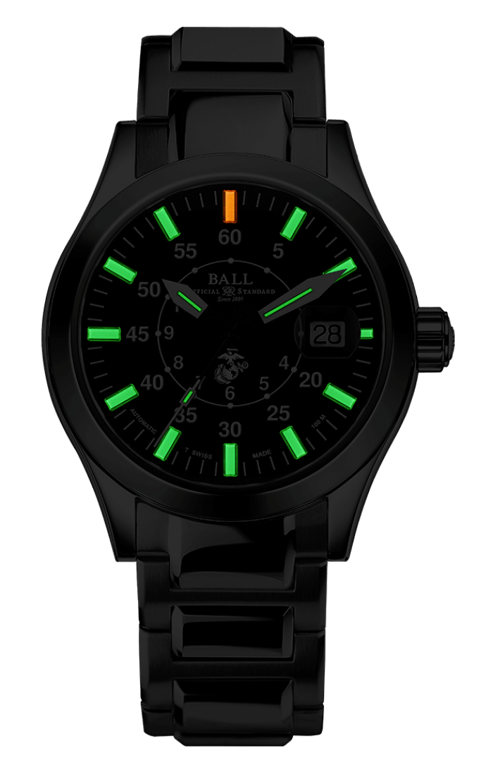 PREORDER BALL NM2026C-S25-BK Limited Edition Engineer II U.S. Marine Corps 40mm Watch