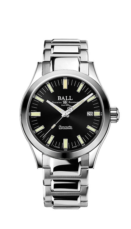 BALL NM2032C-S1C-BK Engineer M Marvelight 40mm Black Dial Watch