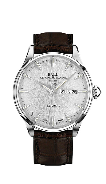 BALL NM2080D-LL1J-SL Trainmaster Eternity  Leather 39.5mm Watch