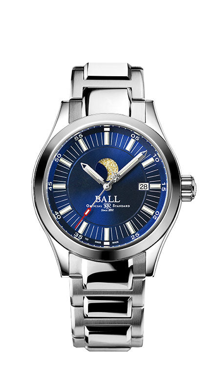 BALL NM2282C-SJ-BE Engineer II Moon Phase Blue Dial Watch