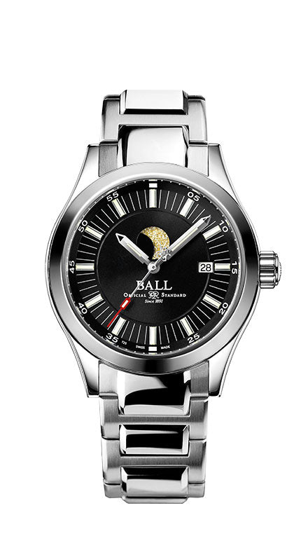 BALL NM2282C-SJ-BK Engineer II Moon Phase Black Dial Watch