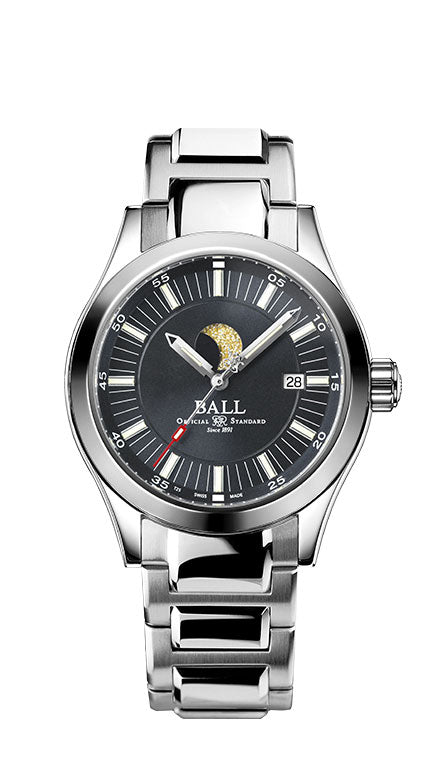 BALL NM2282C-SJ-GY Engineer II Moon Phase Grey Dial Watch