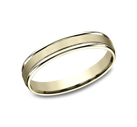 Benchmark RECF7402SY Yellow 14k 4mm Men's Wedding Band Ring