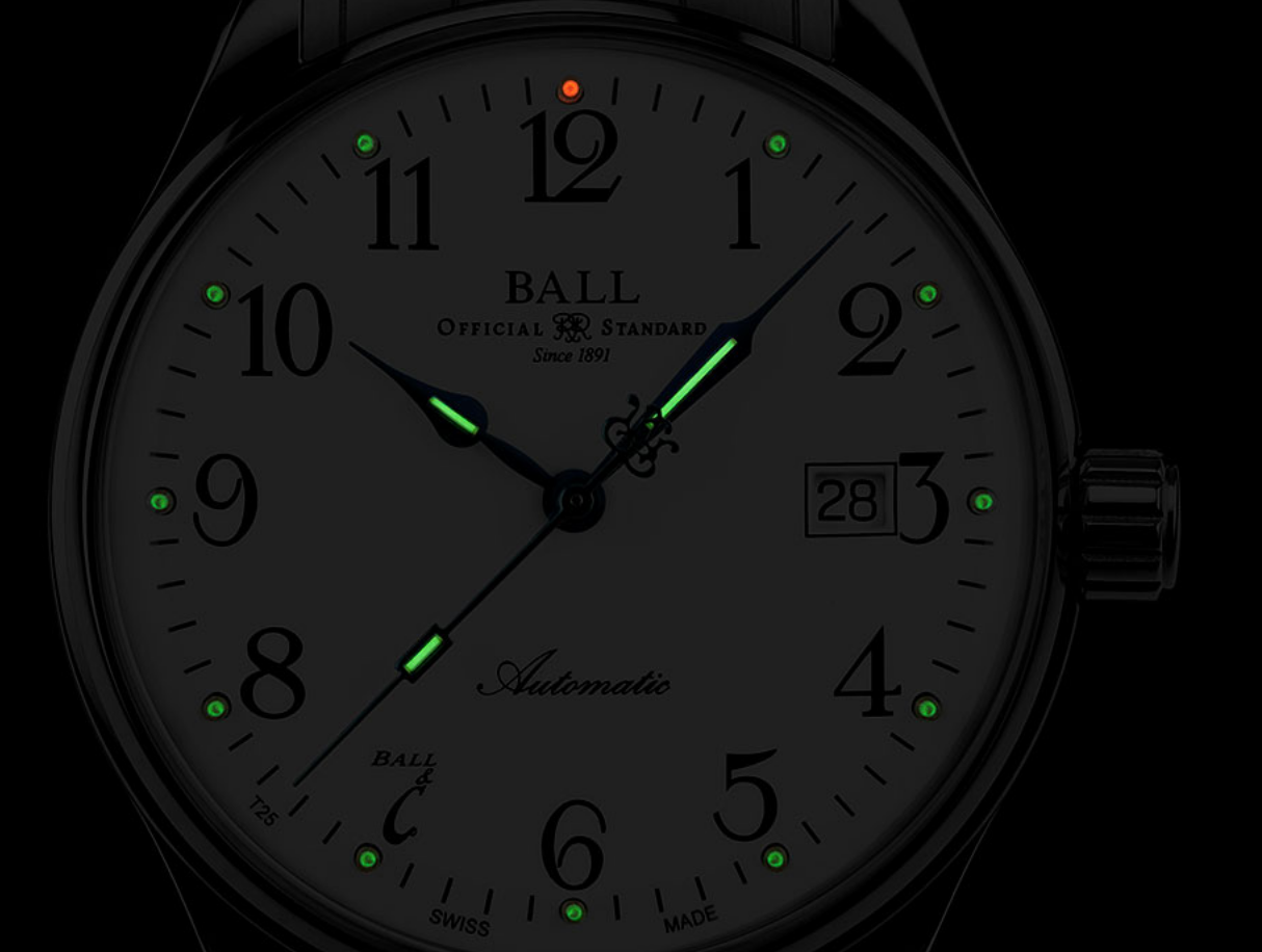 BALL NM3288D-LLJ-WH Trainmaster 135 Limited Standard Time 40mm Watch