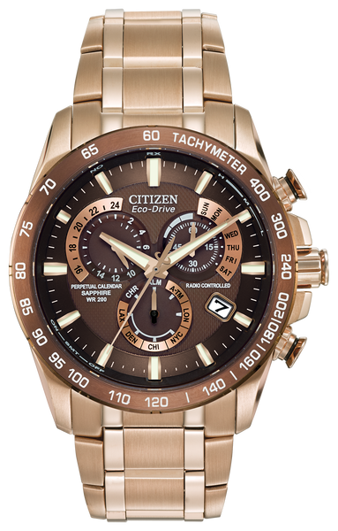 Citizen AT4106-52X Eco-Drive Rose Tone Chronograph AT Watch