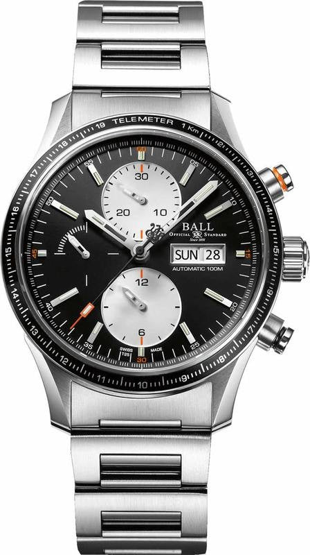 BALL CM3090C-S1J-BK Fireman Storm Chaser Pro Black Dial Chronograph Automatic 42mm Watch