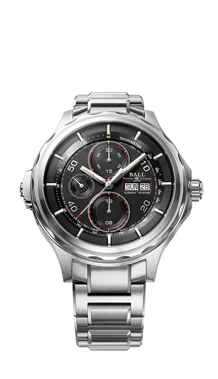 BALL CM3888D-S1J-BK Engineer Master II Chronograph Automatic Black Dial 47.6mm Watch