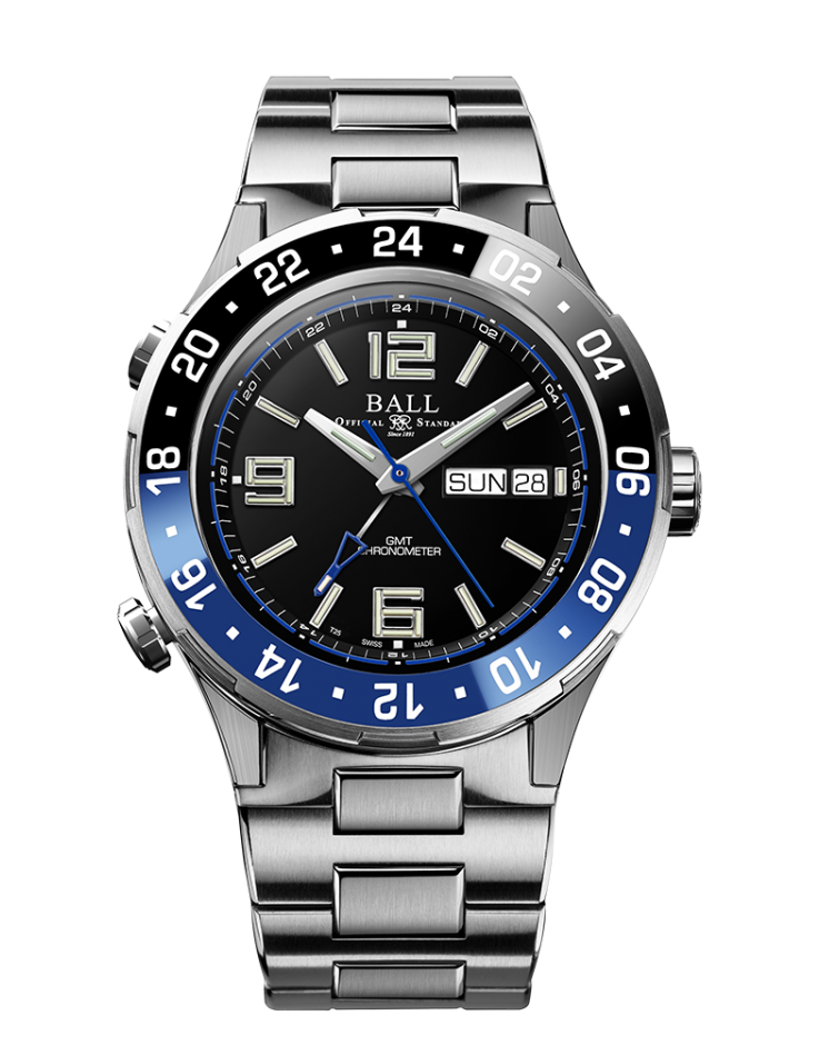 BALL DG3030B-S1CJ-BK Roadmaster BATMAN Marine GMT LIMITED EDITION 40mm Titanium Watch