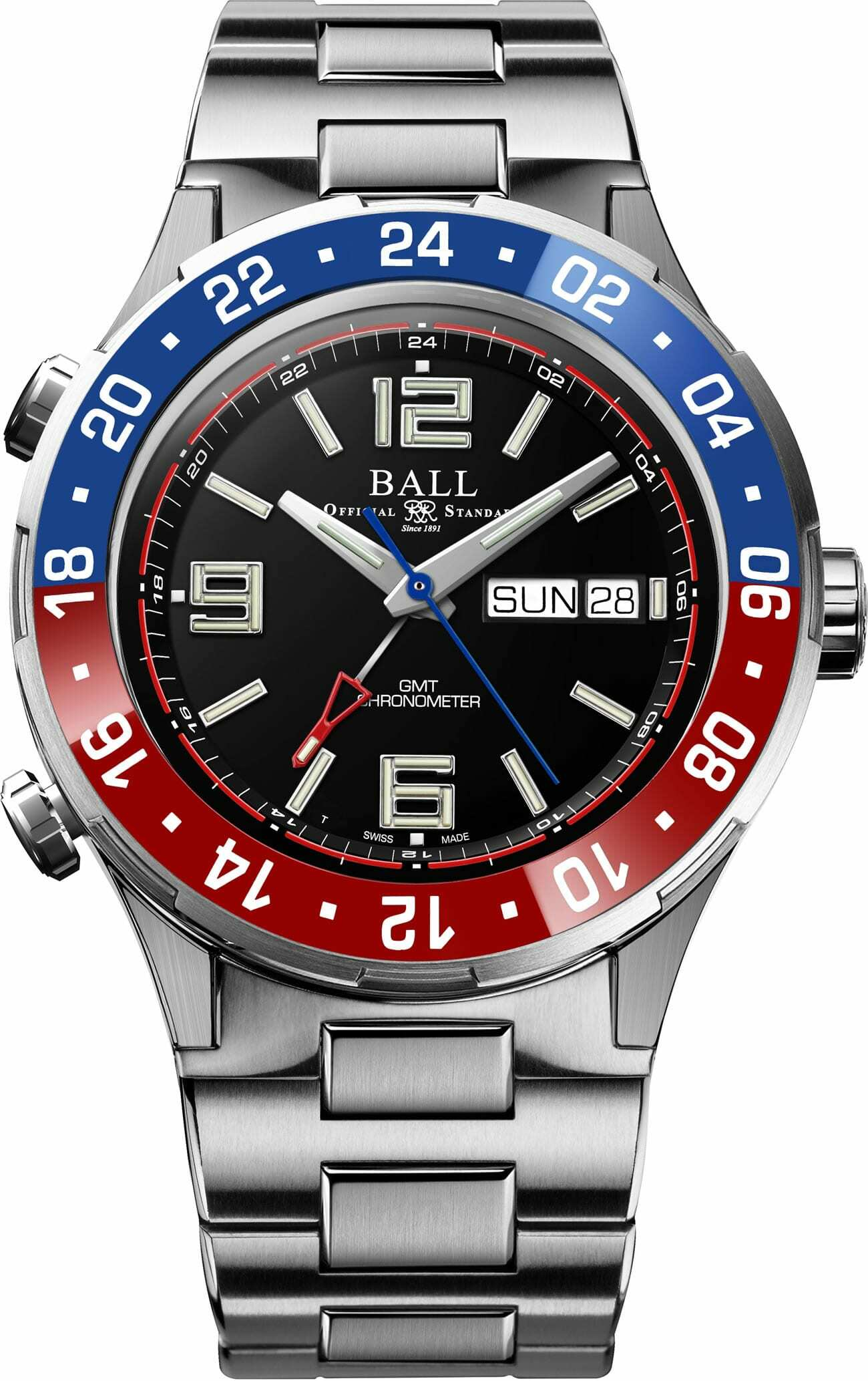 PREORDER BALL DG3030B-S4C-BK Roadmaster Marine GMT LIMITED EDITION Watch